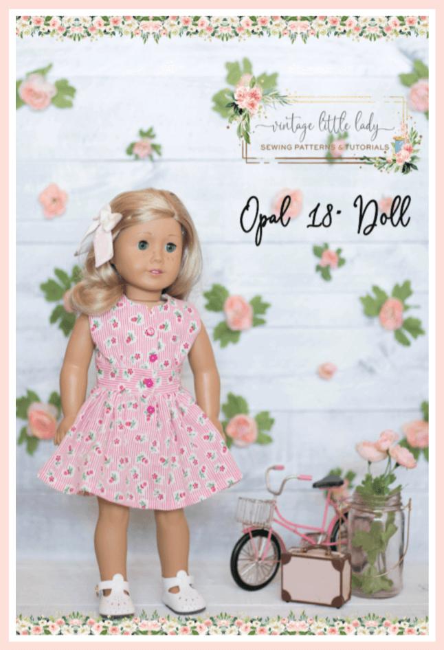 Opal 18 doll vintage dress