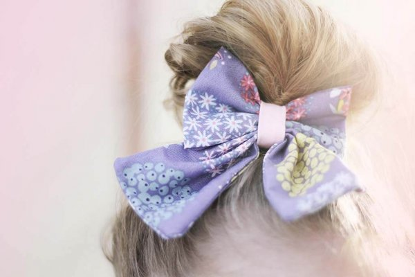 Opal girls bow purple and multi