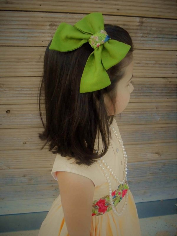 Opal girls bow green