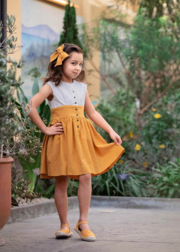 Opal girls town dress, 2 colors