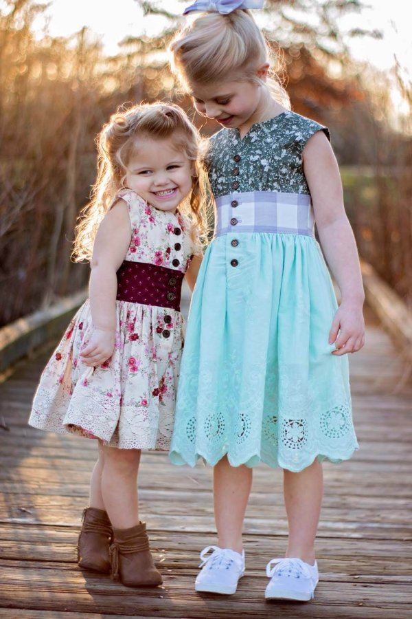 Opal girls dresses flowered and lace