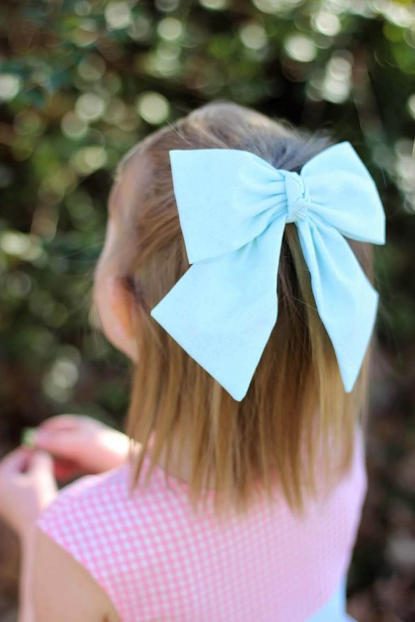 Opal blue bow detail