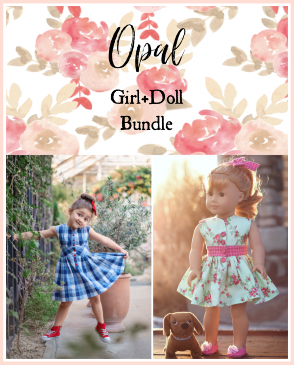 Opal girl + doll bundle sewing patterns