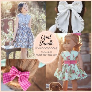 Opal vintage bundle of 4, sewing patterns for girls and dolls