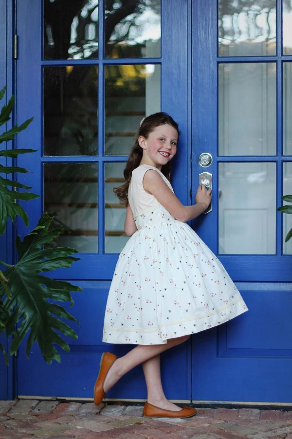 Opal Pretty Dress, blue door