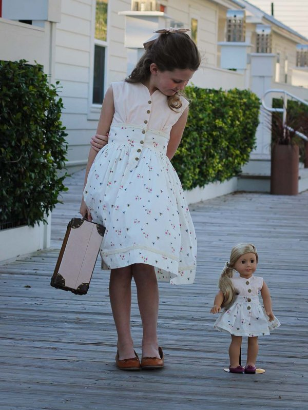 Opal matching girls & dolls dresses