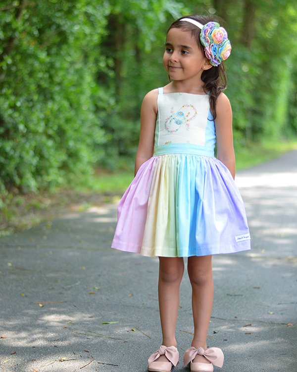 Bristol girls vintage dress and hair bow