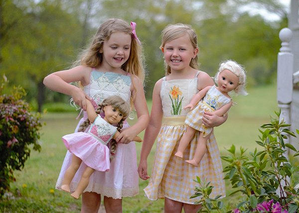 Bristol matching dresses for girls and dolls
