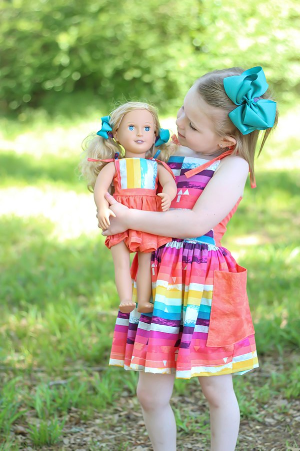 18 inch doll dress Bristol pattern