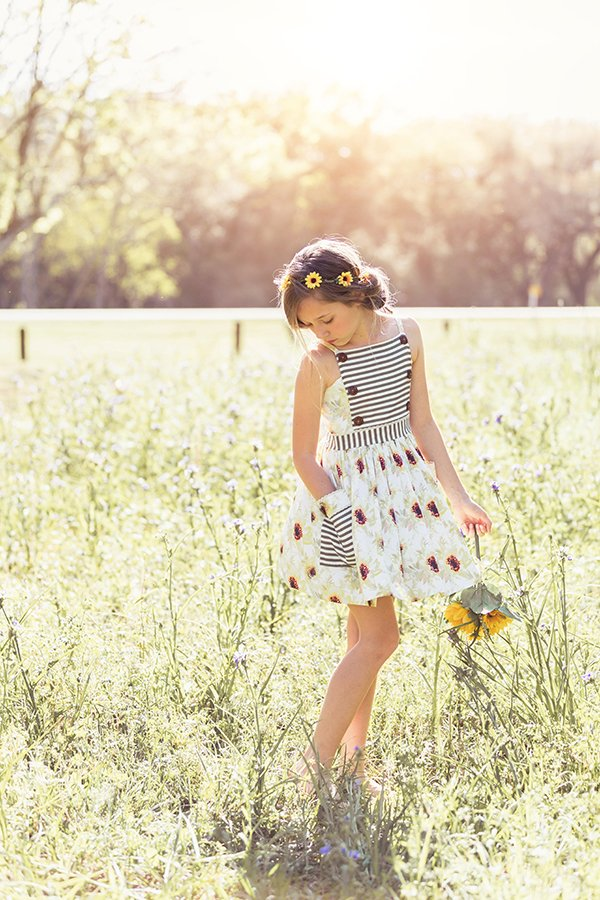 flowers and stripes Bristol vintage dress