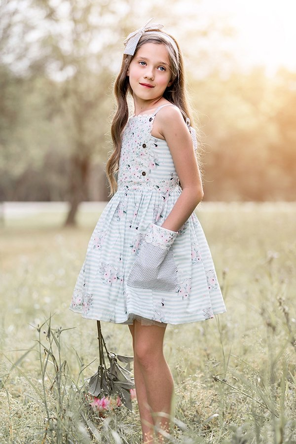 Bristol vintage girls dress and matching bow