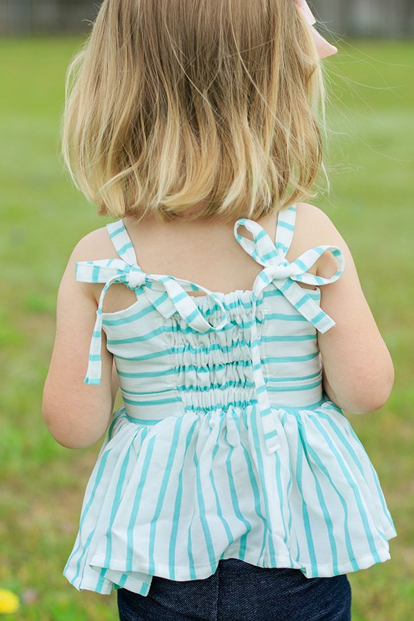 little girls striped Bristol top back