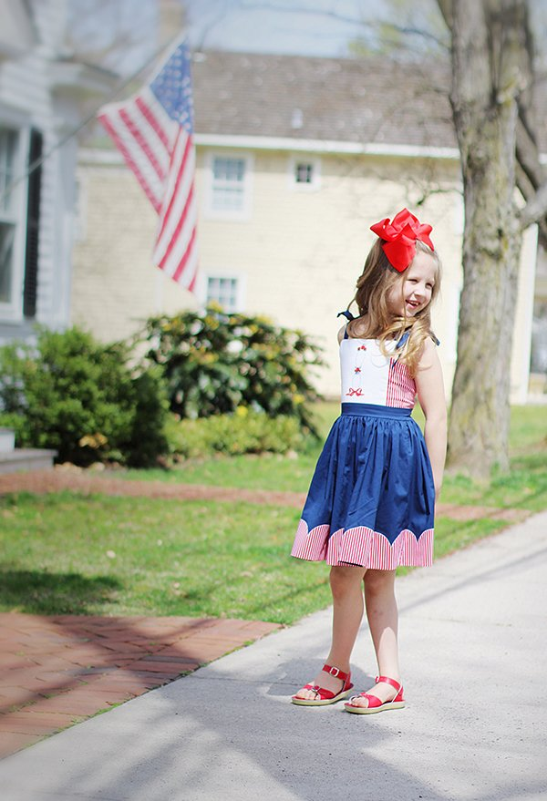 red white and blue Bristol girls dress