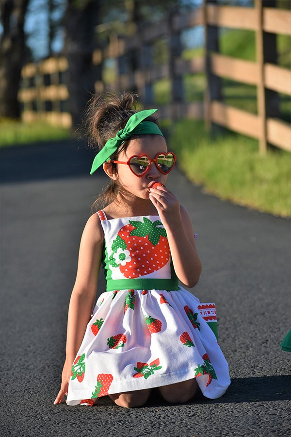 strawberry top Bristol vintage girls dress