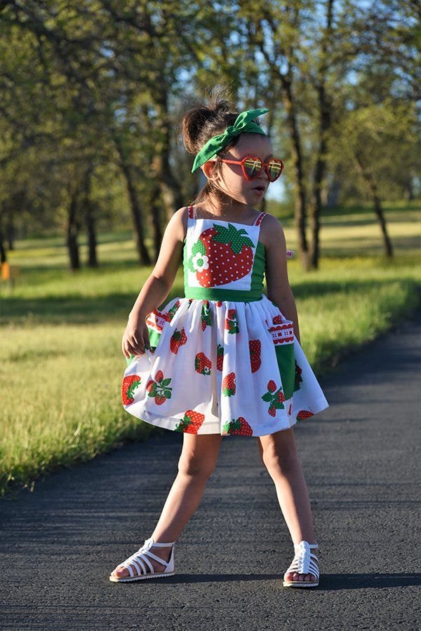 strawberry dress front