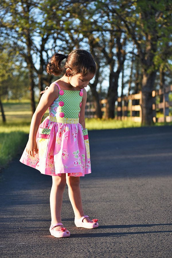girls vintage summer dress