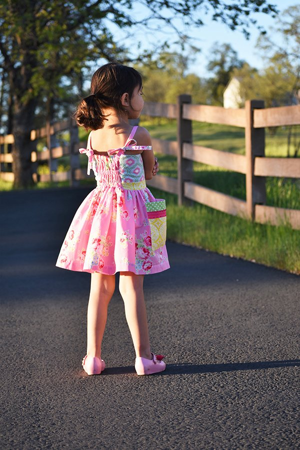 girls vintage summer dress back