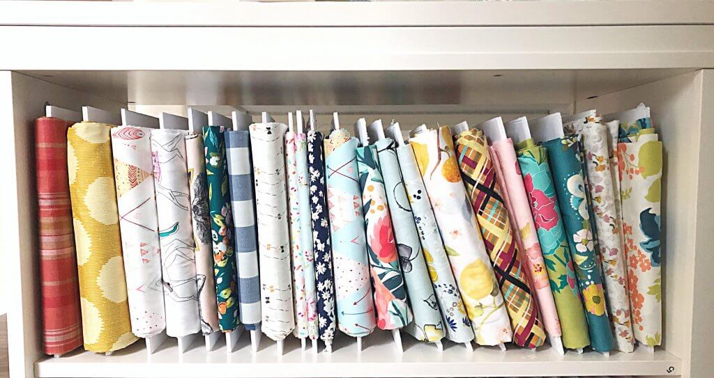 fabric organizing can be easy and beautiful