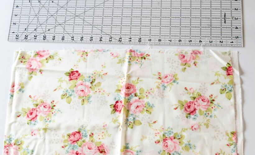 measure your fabric and fold to fit the cut board