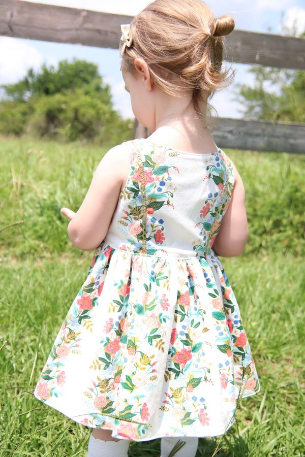baby Baker vintage dress back view