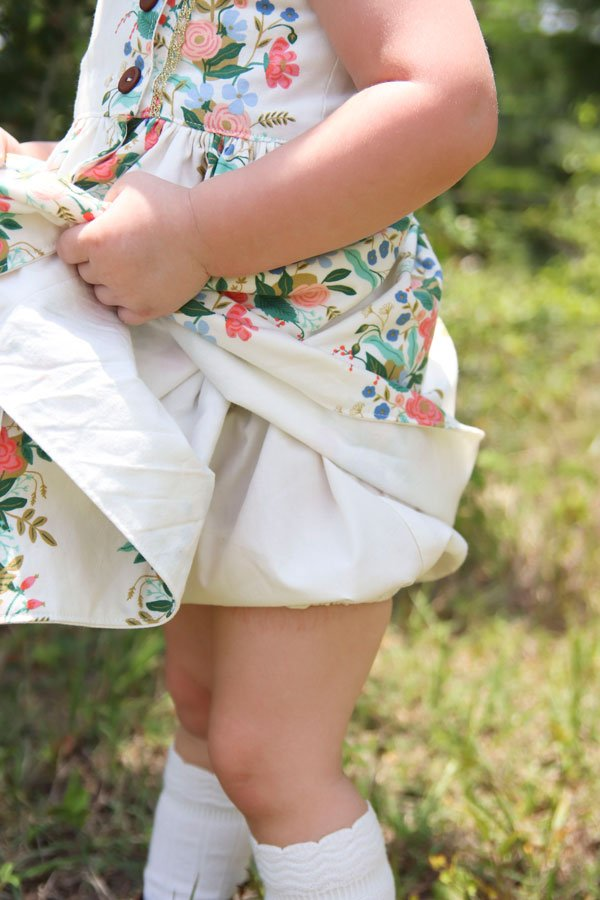 baby Baker print dress with plain bloomers