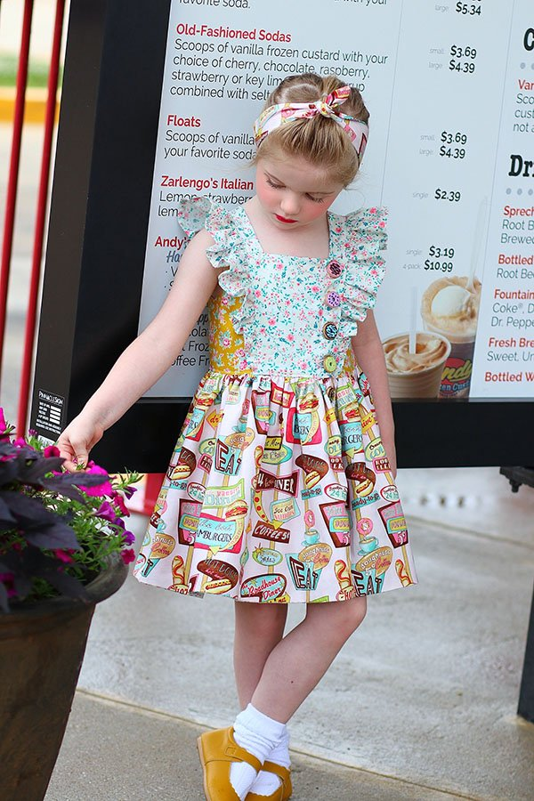 Baker girls dress prints mix