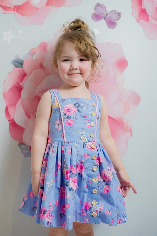 bodice piping Baker girls dress
