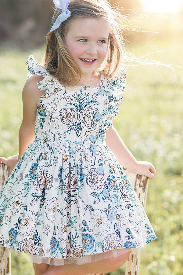 Baker girls summer flowers dress