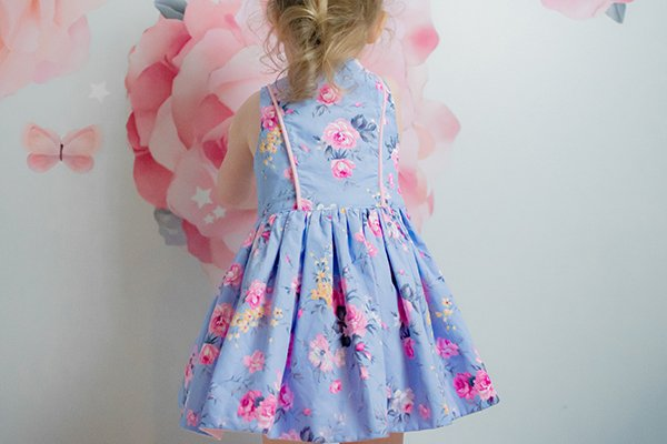 Baker girls dress with piping