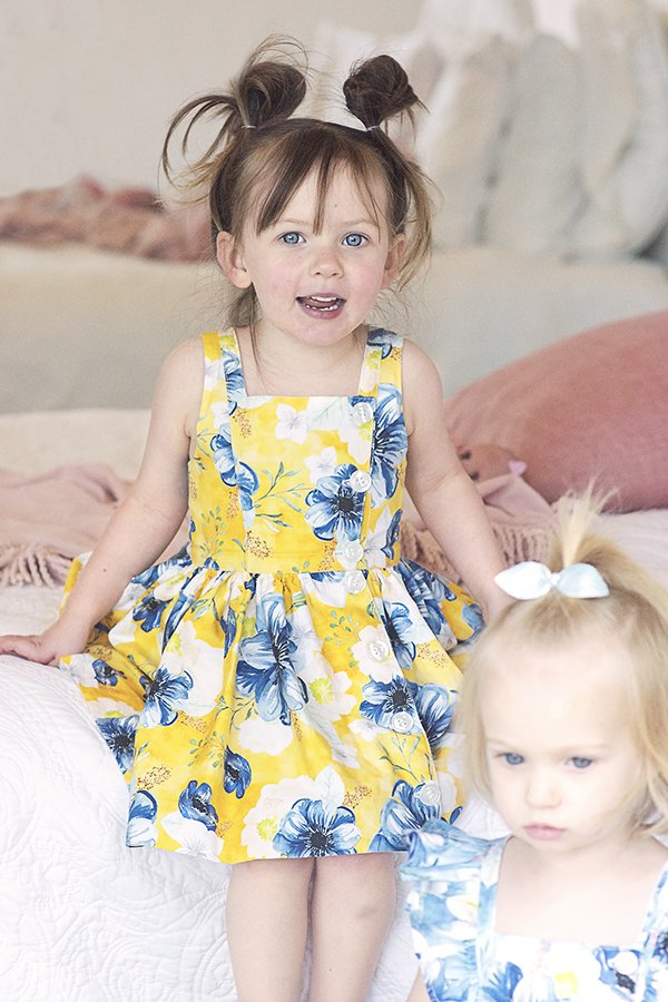 summer sleeveless Baker girls dress