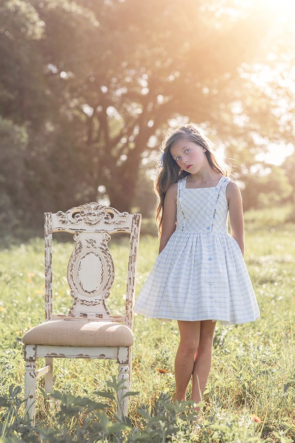 Baker girls gingham sleeveless dress