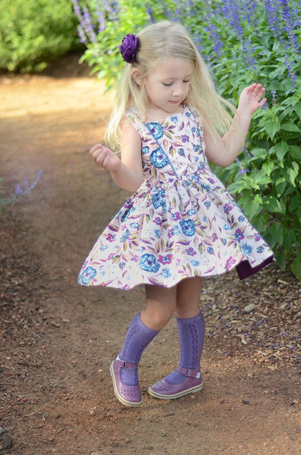 short skirt Baker girls print dress