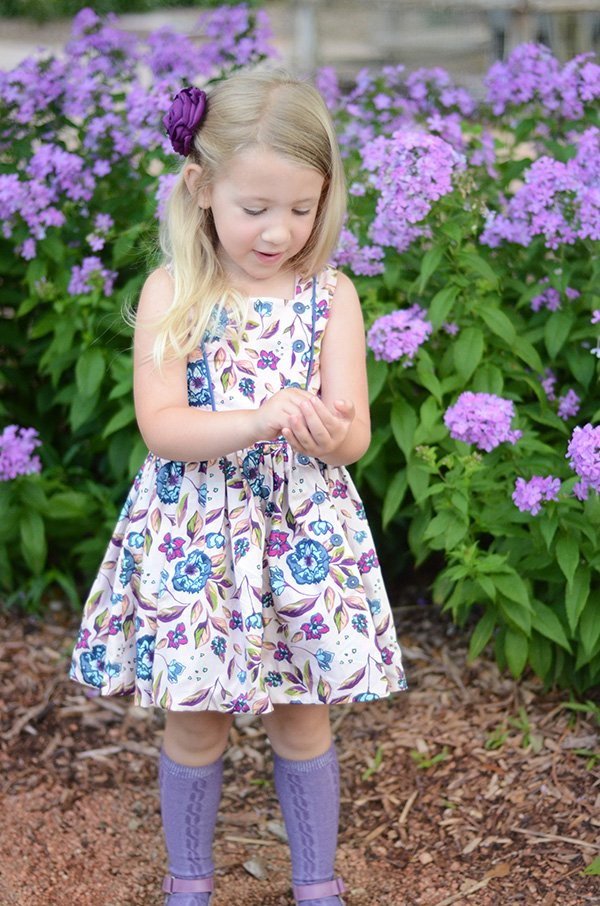 summer print Baker girls dress