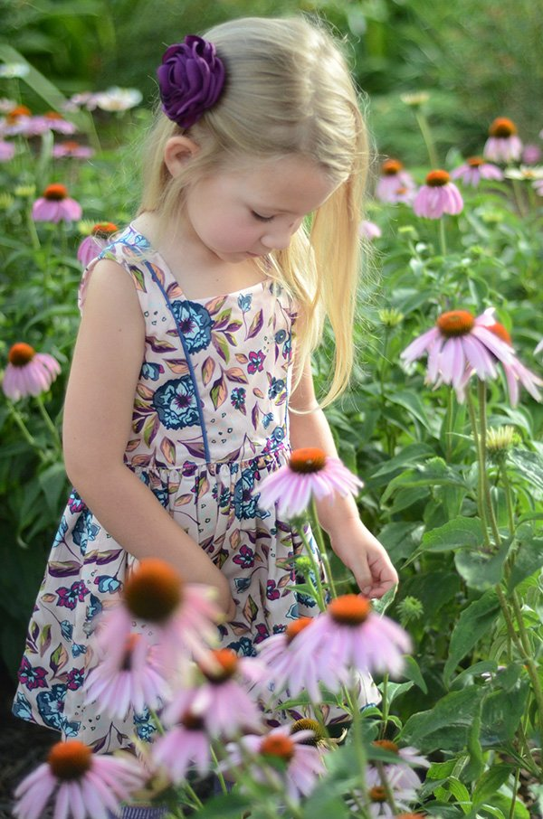 sleeveless print Baker girls dress
