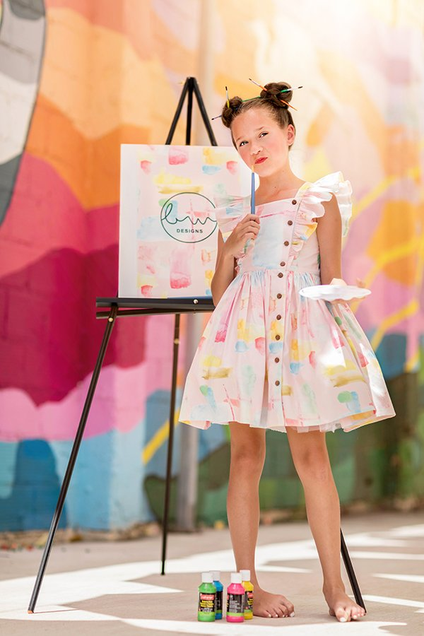 Baker girls dress flutter and short skirt