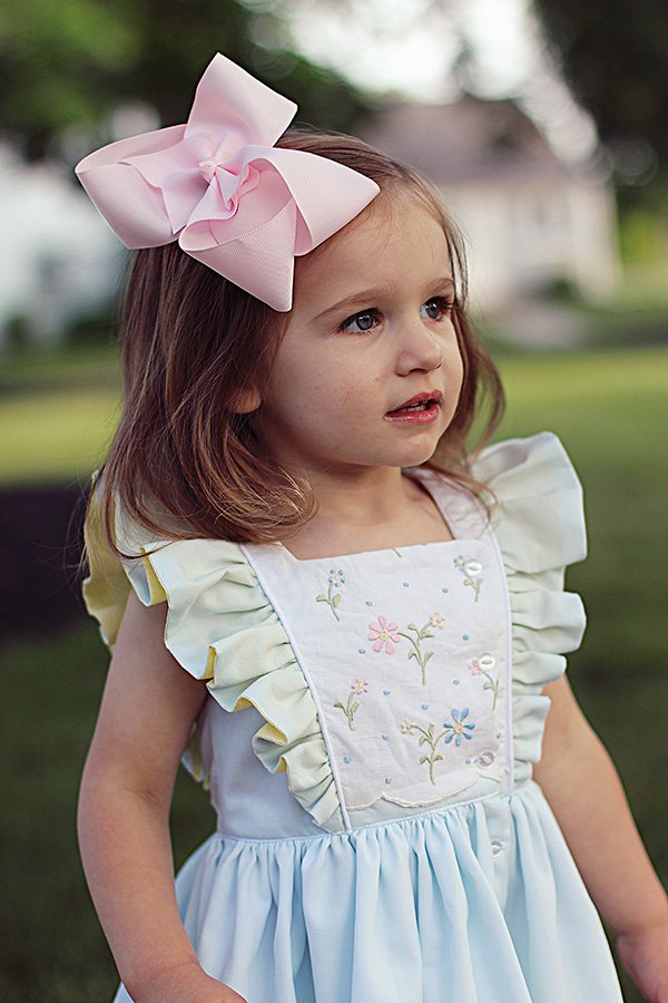 ruffled bodice Baker girls vintage dress