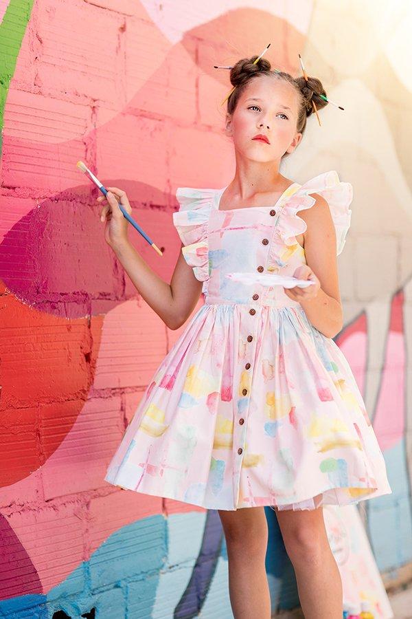 Baker girls ruffled dress