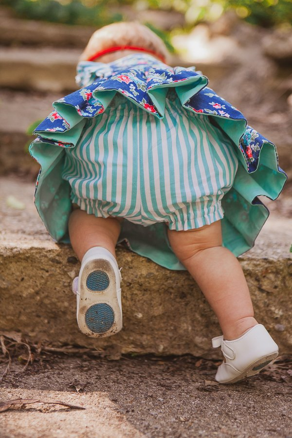 baby Baker striped bloomers