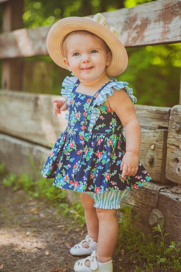 baby Baker stripes & flowers