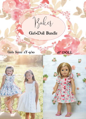 Baker girls doll bundle