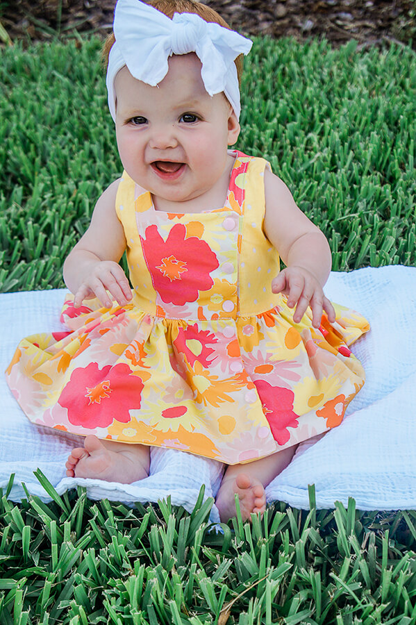 baby Baker hot flowers dress