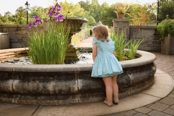 baby Baker light blue dress short skirt