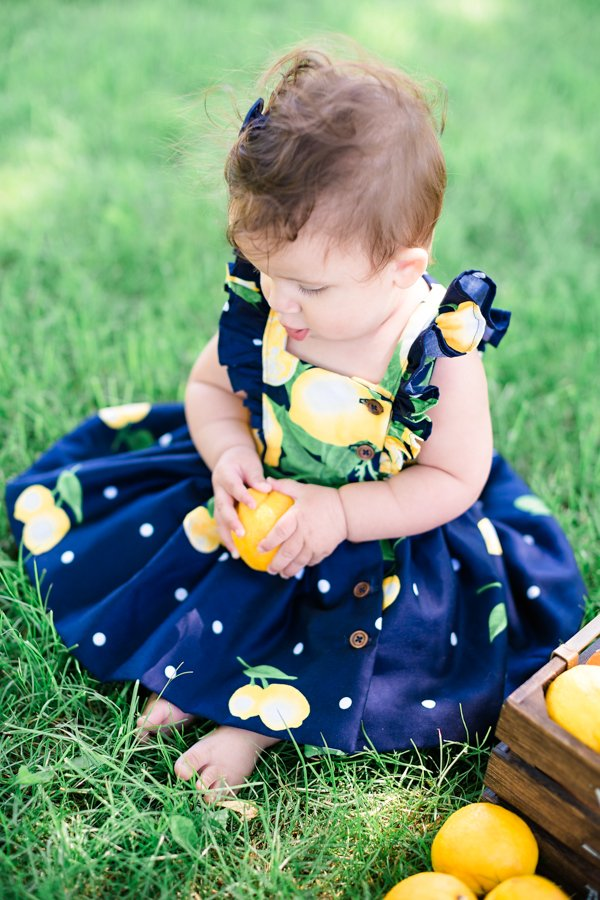 lemons baby Baker dress
