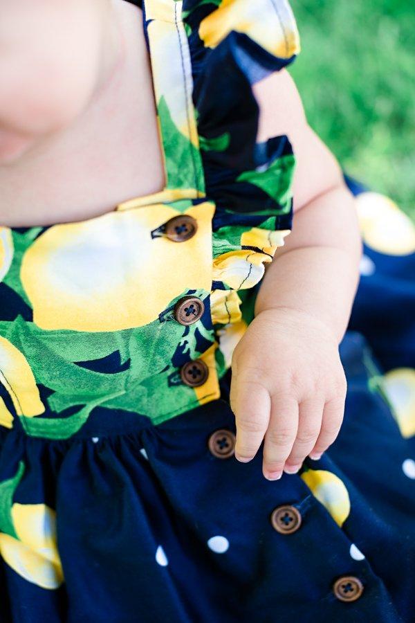 lemons & navy baby Baker