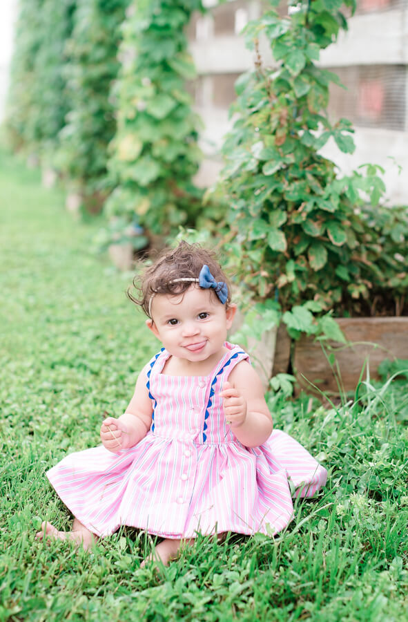 baby Baker dress pink striped