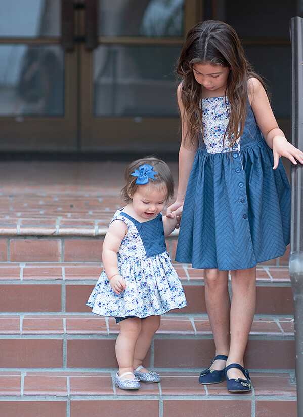 Baker sisters dresses navy and white