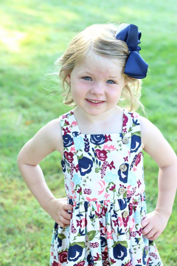 Baker side button sleeveless dress