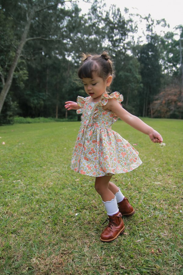 Baker dress with twirly short skirt