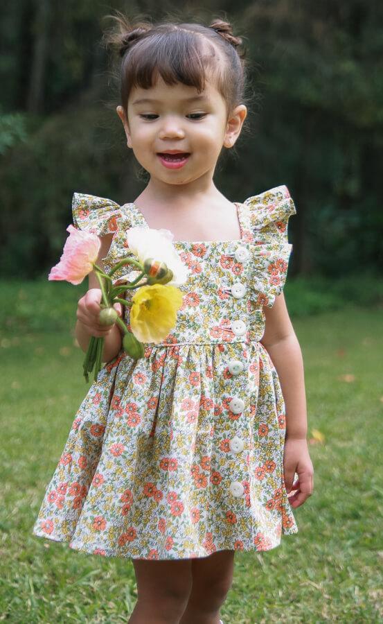 front view little girls Baker dress
