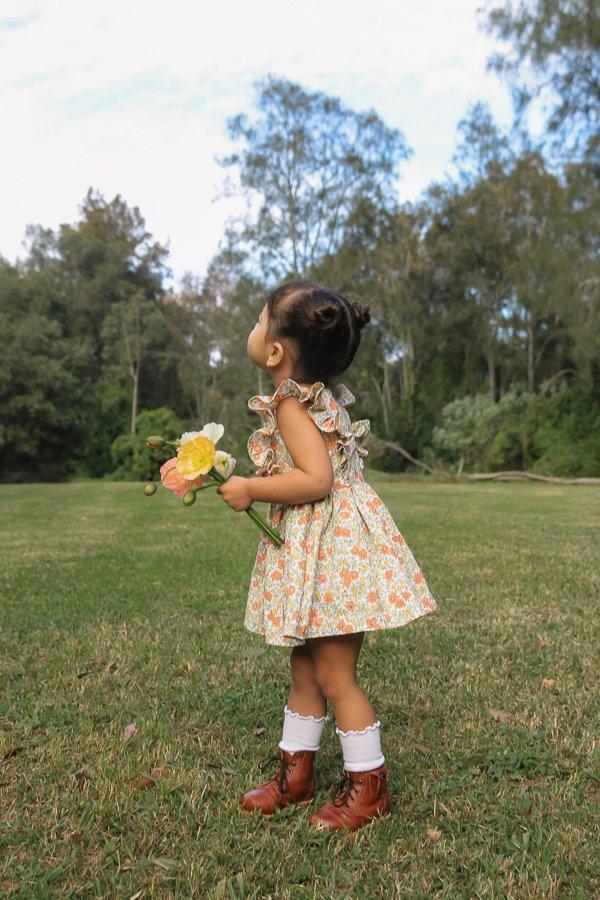 Baker flowered dress short skirt